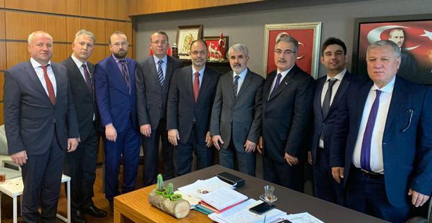 MÜSİAD yöneticileri Sazak'ı ziyaret etti