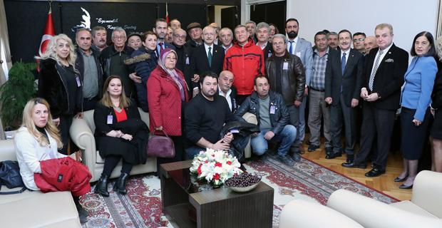 Sivrihisarlılar Kılıçdaroğlu'nu ziyaret etti