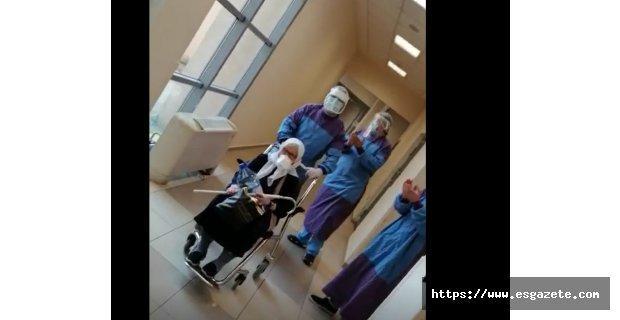 75 yaşındaki korona hastası sağlığına kavuştu