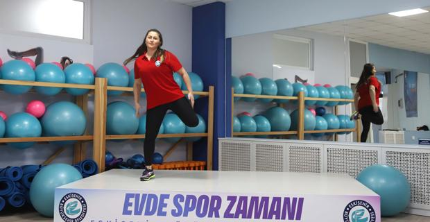 'Evde spor zamanı' etkinliğine büyük ilgi