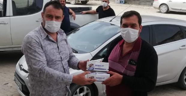 ÇEL-DER'den gıda yardımı ve maske dağıtımı