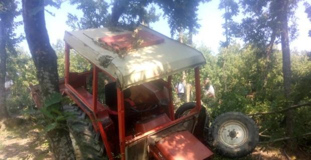 Bilecik'te traktör kazası, 2 yaralı