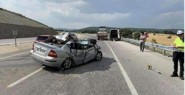 Kahreden kazada 1 ölü, 2 yaralı