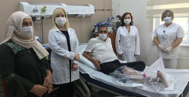 Ozon tedavisiyle ayak yaralarından kurtuluyor