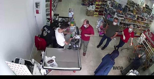 Koronalı vatandaş alışverişte yakalandı