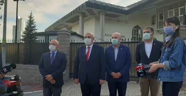 Azerbaycan Büyükelçiliği'ne destek ziyareti