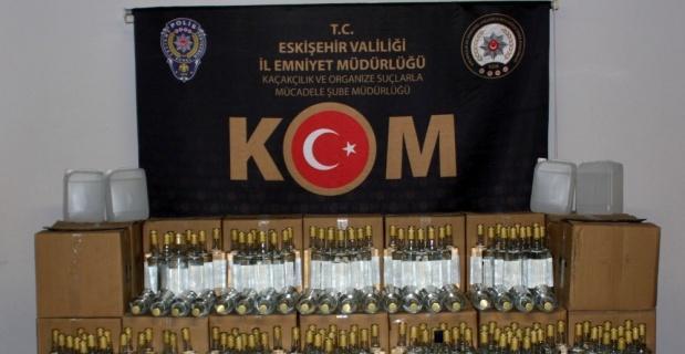 Eskişehir'de 979 litre kaçak alkol