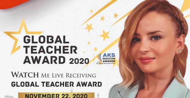 Küresel Öğretmen ödülü  Selda Kul Baştürk'ün oldu