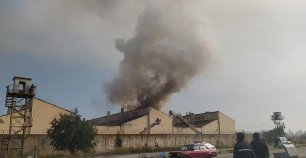 Kütahya Cezaevi'nde yangın