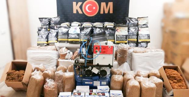 Sigara ve tütün ürünleri kaçakçılığı operasyonu