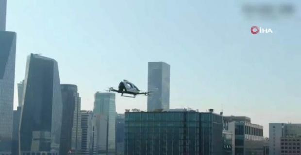 Drone taksi ilk uçuşunu gerçekleşirdi