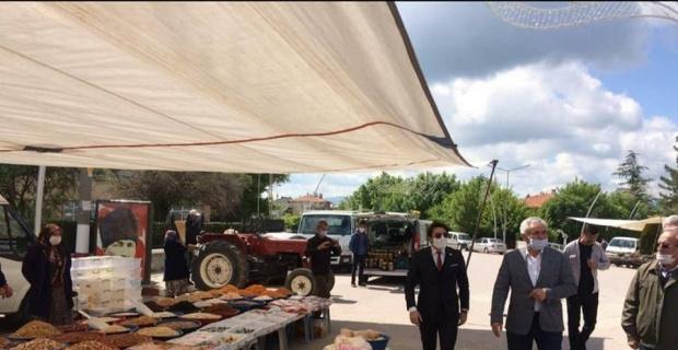 Dumlupınar ilçe pazarı 2 hafta kapatıldı