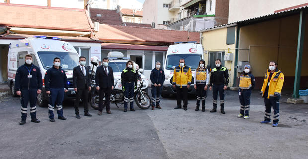 Karacan'dan Acil Sağlık Çalışanlarına Moral Ziyareti