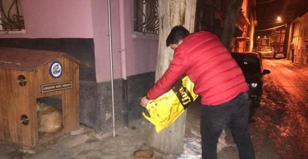 Eskişehir gönüllülerinden hayvanlara yardım