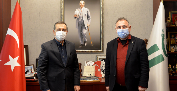 Sağlam'dan Başkan Ataç'a Ziyaret