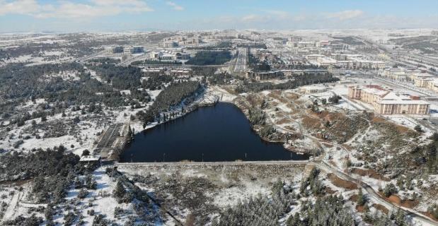 Saklıgöl'de kar güzelliği