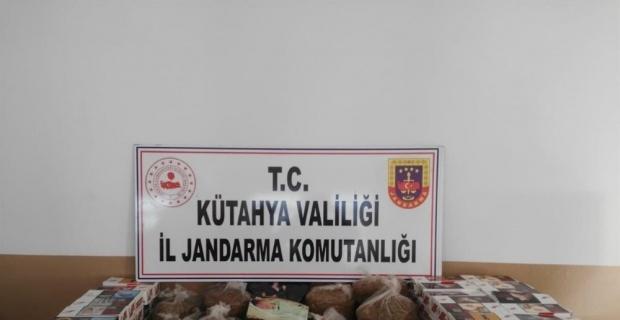 Simav'da kaçak tütün operasyonu