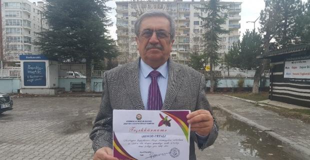 Ahmet Urfalı'ya Azerbaycan'dan 'teşekkürname' ödülü