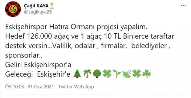 Eskişehirspor'a destek projesi gündem oldu