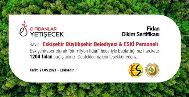Eskişehirspor'a 1200 fidan desteği