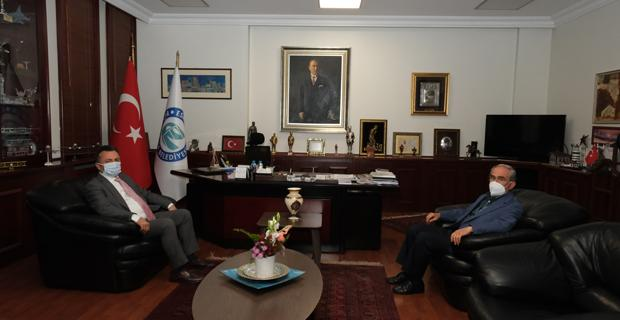 Şenocak'tan Büyükerşen'e ziyaret