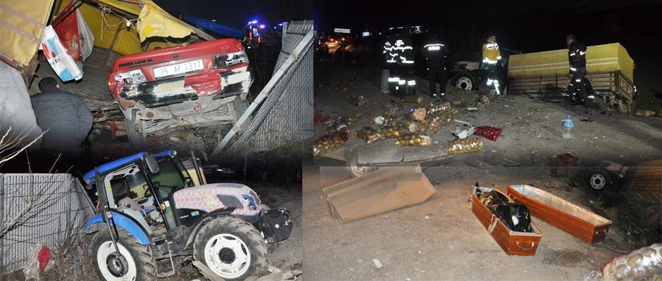 Afyon'da feci kaza: 2 ölü