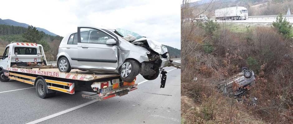 Otomobil şarampole uçtu 1 kişi öldü