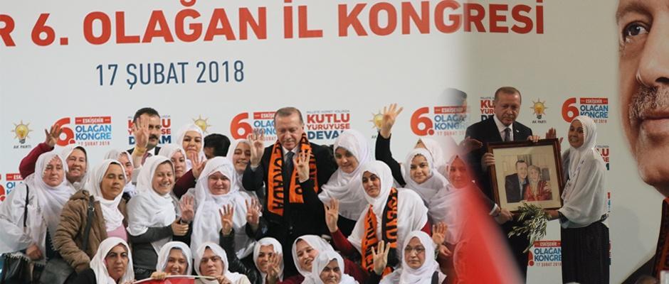 Eskişehirli kadınlardan Erdoğan'a duygulandıran hediye