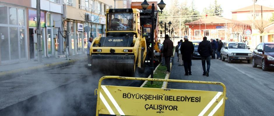 Büyükşehir İnönü'de çalışıyor