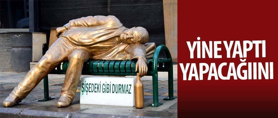 Büyükşehir'den dikkat çeken heykel