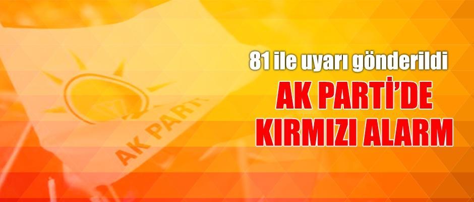 AK Parti tüm teşkilatlarda 'kırmızı alarm' verdi
