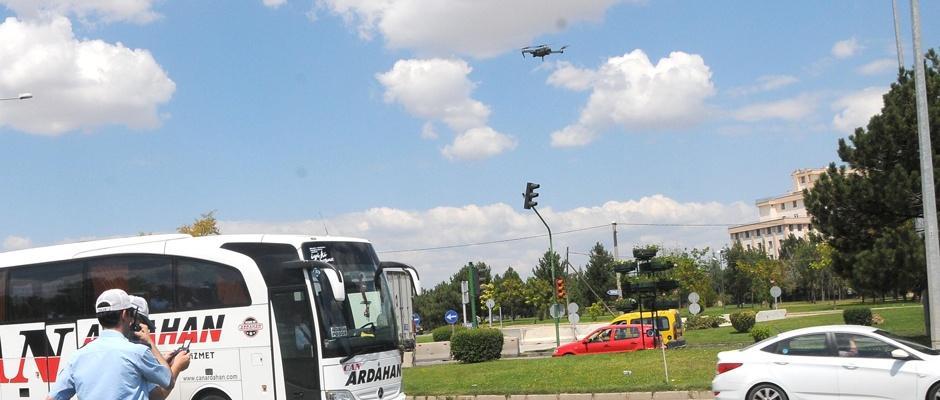 Eskişehir trafiği uçangöz ile takip ediliyor