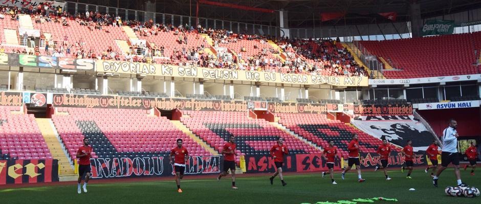 Eskişehirspor'da son çalışma
