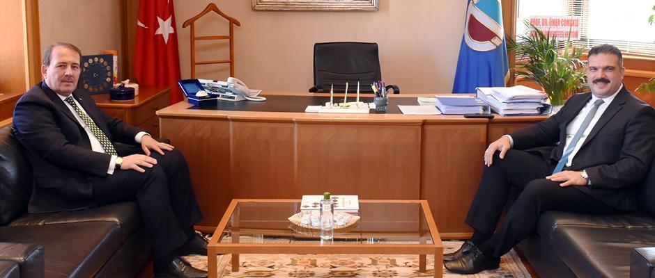 Karacan'dan Rektör Çomaklı'ya Hayırlı Olsun Ziyareti