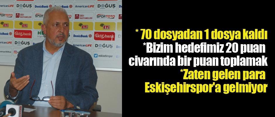 Eskişehirspor'da hedef...
