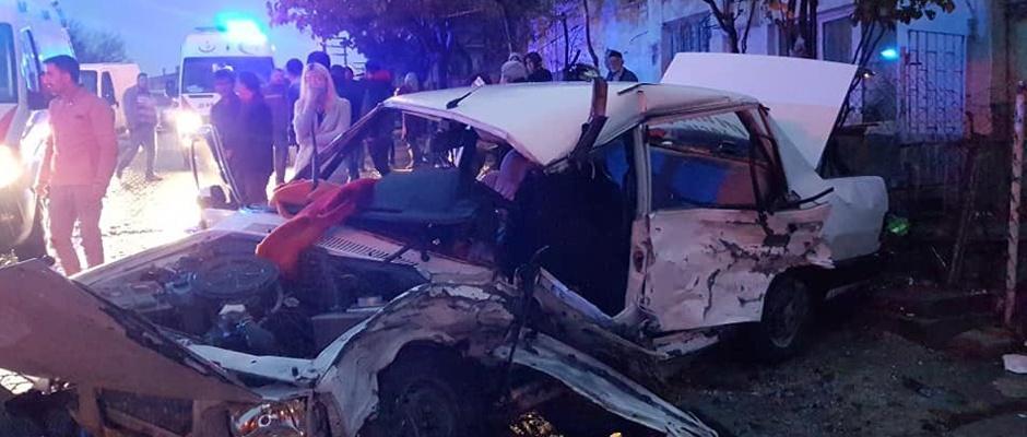 Trafik kazası: 2 ölü, 5 yaralı