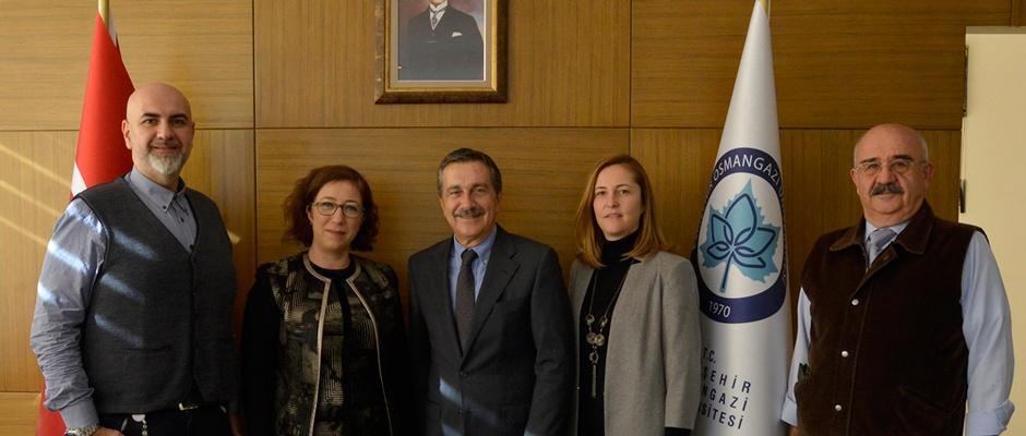 Başkan Ataç'tan Prof. Dr. Bayrak'a ziyaret