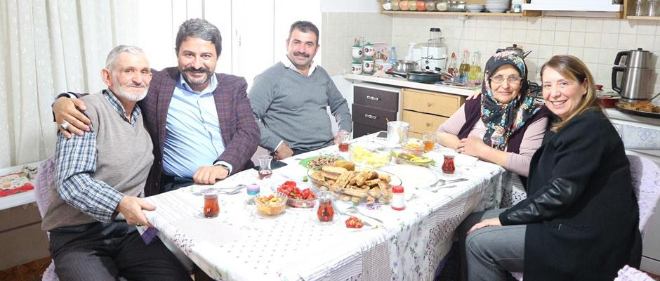 Günay, Tüfek ailesini ziyaret etti