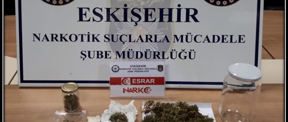 Eskişehir'de uyuşturu operasyonu