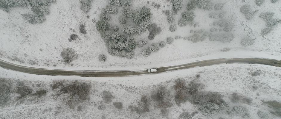Eskişehir'de kartpostallık kar manzaraları
