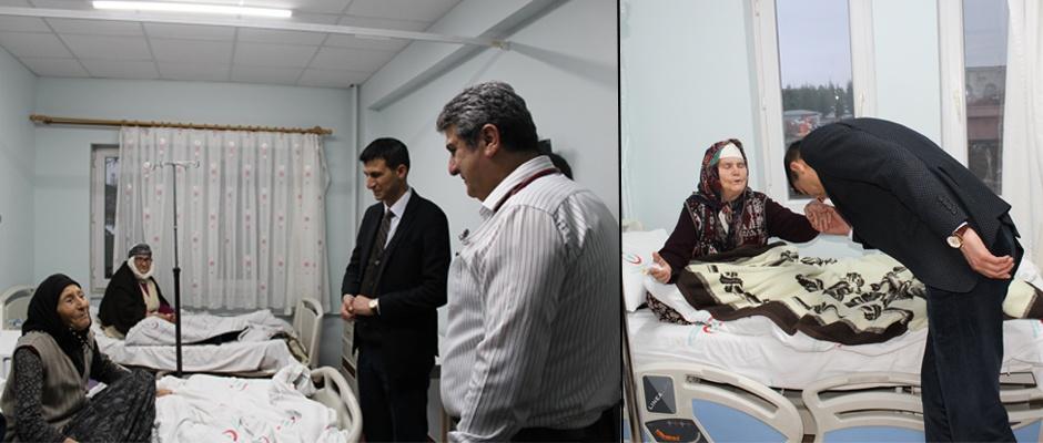 Kadir Bıyık Hastaları ziyaret etti