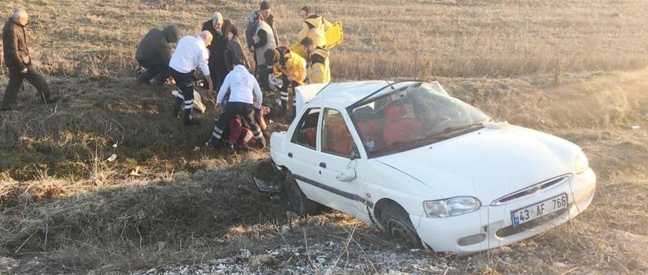 Trafik kazası: 1 ölü, 4 yaralı/Kütahya