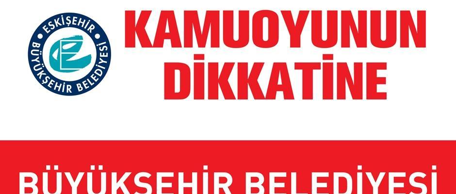 Büyükşehir'den Ak Parti'ye afiş yanıtı