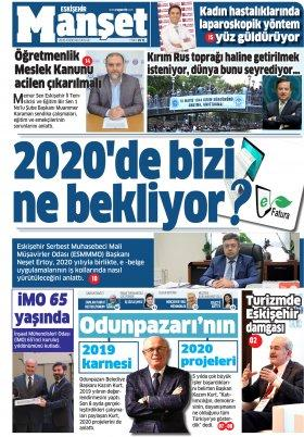 Esgazete - Eskişehir'de Haber, Eskişehir haber sitesi - 03.01.2020 Manşeti