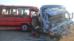 Eskişehirspor'un emektar otobüsü kaza yaptı:13 yaralı