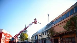 Eskişehir'de PVC atölyesinde yangın