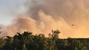 Orman yangını söndürülemiyor
