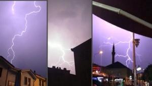 Eskişehir'de şimşekli gece