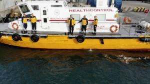 Ambarlı Limanı'nda Çin'den gelen gemiler denetleniyor