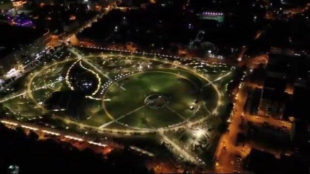 Eskişehir Millet Bahçesi gece görüntüsü büyüledi